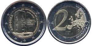2 Euro Andorra Nickel