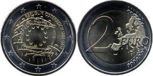 2 Euro Republic of Austria (1955 - ) Nickel