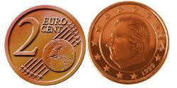 2 Euro Belgium Steel/Copper Albert II of Belgium