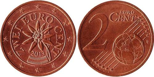 2 Eurocent Republic of Austria (1955 - ) Copper