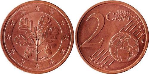 2 Eurocent Bundesrepublik Deutschland  (1990 - ) Kupfer/Stahl