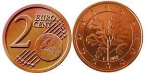 2 Eurocent 德国 Steel/銅