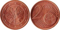 2 Eurocent Federal Republic of Germany (1990 - ) Steel/Copper