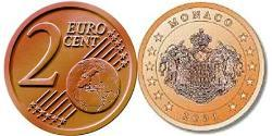 2 Eurocent Monaco Steel/Copper