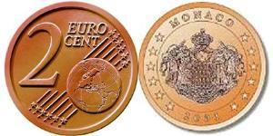 2 Eurocent Monaco Steel/Copper