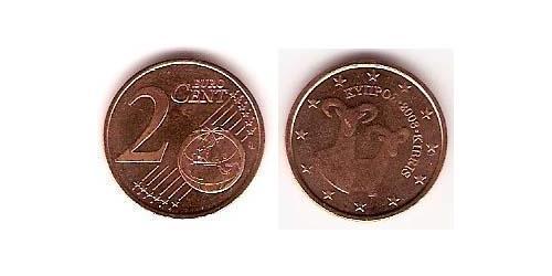 2 Eurocent Republic of Cyprus (1960 - ) Steel/Copper
