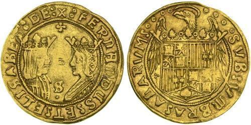 2 Excelente Іспанія Золото Ferdinand II of Aragon / Isabella I of Castile (1451-1504)