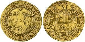 2 Excelente Испания Золото Ferdinand II of Aragon / Isabella I of Castile (1451-1504)