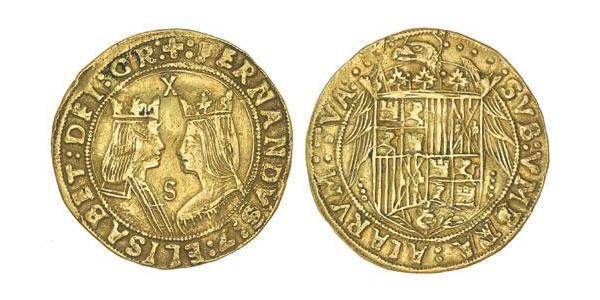 2 Excelente Spain Gold Ferdinand II of Aragon / Isabella I of Castile (1451-1504)