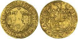 2 Excelente Spanien Gold Ferdinand II of Aragon / Isabella I of Castile (1451-1504)