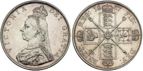 2 Florin Regno Unito di Gran Bretagna e Irlanda (1801-1922) Argento Vittoria (1819 - 1901)