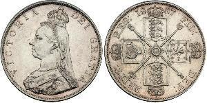 2 Florin Reino Unido de Gran Bretaña e Irlanda (1801-1922) Plata Victoria (1819 - 1901)