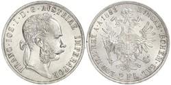 2 Florin / 2 Gulden Imperio austrohúngaro (1867-1918) Plata Franz Joseph I (1830 - 1916)