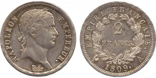 2 Franc 法兰西第一帝国 (1804 - 1814) 銀 拿破仑一世(1769 - 1821)