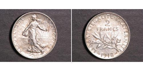 2 Franc 法兰西第三共和国 (1870 - 1940) 銀
