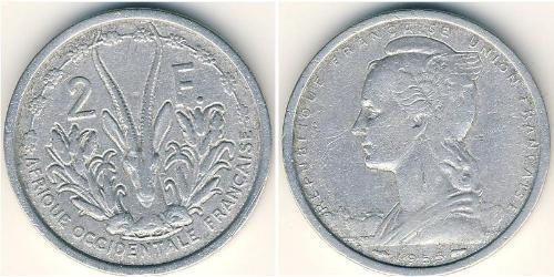 2 Franc French West Africa (1895-1958) Aluminio