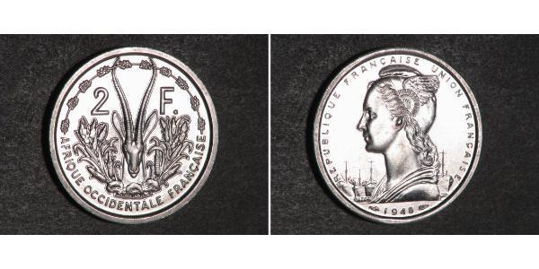 2 Franc French West Africa (1895-1958) Aluminium