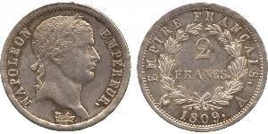 2 Franc Premier Empire (1804-1814) Argent Napoléon Ier(1769 - 1821)