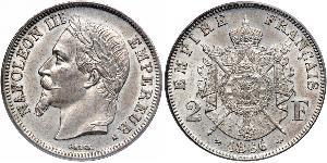 2 Franc Second Empire (1852-1870) Argent Napoleon III (1808-1873)