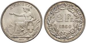2 Franc Suisse Argent