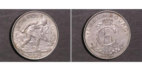 2 Franc Lussemburgo Argento