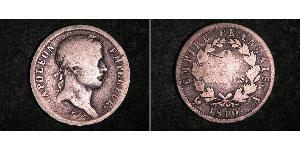 2 Franc Primo Impero francese (1804-1814) Argento Napoleone Bonaparte(1769 - 1821)