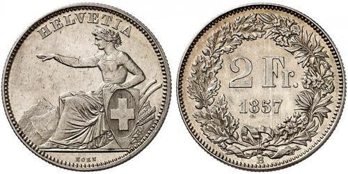 2 Franc Svizzera Argento