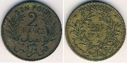 2 Franc Tunisia Bronze