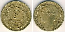 2 Franc French Third Republic (1870-1940)  Bronze/Aluminium