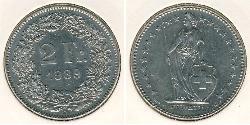 2 Franc Switzerland Copper/Nickel