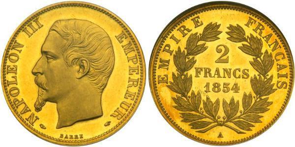 2 Franc Zweites Kaiserreich (1852-1870) Gold Napoleon III (1808-1873)