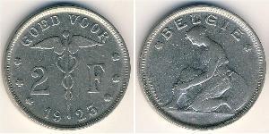 2 Franc Bélgica Níquel