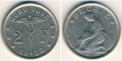 2 Franc Belgium Nickel