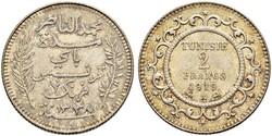 2 Franc Túnez Plata