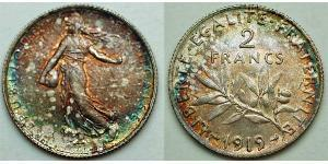 2 Franc Dritte Französische Republik (1870-1940)  Silber