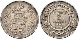 2 Franc Tunesien Silber