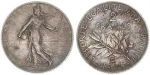 2 Franc French Third Republic (1870-1940)  Silver