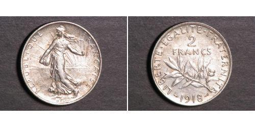 2 Franc French Third Republic (1870-1940)  Silver