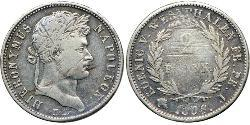 2 Franc States of Germany Silver Napoleon (1769 - 1821)