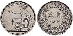 2 Franc Switzerland Silver