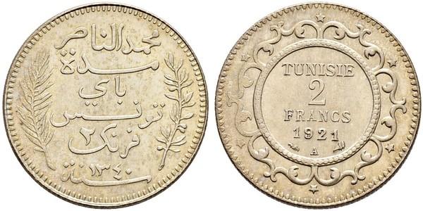 2 Franc Tunisia Silver