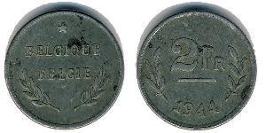 2 Franc Belgium Zinc