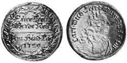 2 Groschen Principality of Ansbach (1398–1792) Silver Charles William Frederick, Margrave of Brandenburg-Ansbach (1712 – 1757)