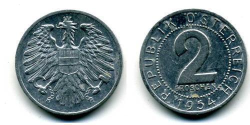 2 Grosh Besetztes Nachkriegsösterreich / Republik Österreich (1955 - ) Aluminium