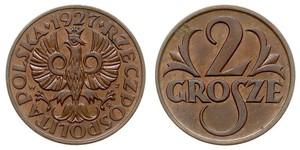 2 Grosh Pologne / Deuxième République de Pologne (1918 - 1939) Cuivre