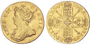 2 Guinea 大不列顛王國 (1707 - 1800) 金 安妮 (英国女王) (1665-1714)