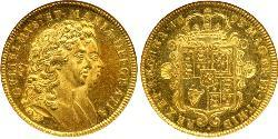 2 Guinea Kingdom of England (927-1649,1660-1707) Gold William III (1650-1702)