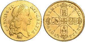 2 Guinea Kingdom of England (927-1649,1660-1707) Gold Charles II (1630-1685)