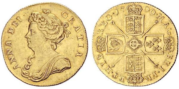 2 Guinea Kingdom of Great Britain (1707-1801) Gold Anne, Queen of Great Britain (1665-1714)
