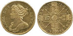 2 Guinea Regno Unito di Gran Bretagna (1707-1801) Oro Anna di Gran Bretagna(1665-1714)
